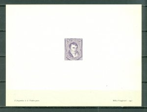 ARGENTINA HELIO-VAUGIRARD PROOF of  #64B....MNH