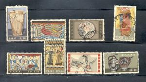 Greece Sc 708-15 1961 Minoan Art stamps used