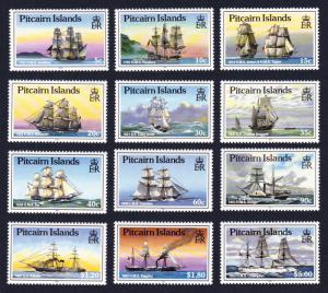 Pitcairn Ships 12v SG#315-26 MI#308-19