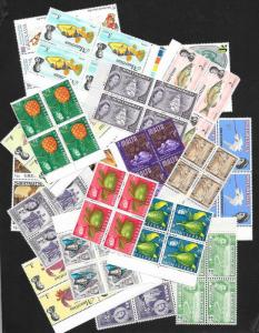 WORLDWIDE (300) Mint Never Hinged Blocks of 4 ALL DIFFERENT!