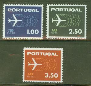 Portugal Scott 919-21 MNH** Airplane set