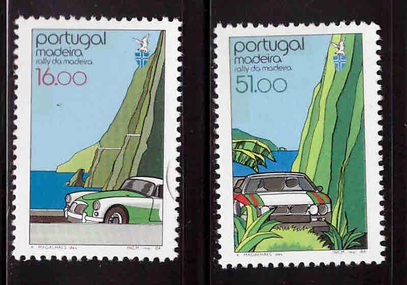 MADEIRA Scott 95-96 MNH**  1984 automobile set