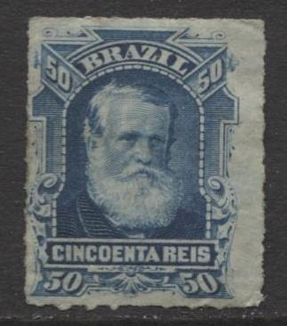 Brazil - Scott 70 - Dom Pedro Issue -1878 - Rouletted - Used- Single 50r Stamp
