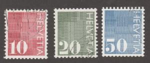 Switzerland stamp, Used,set of three, Scott# 521-523, ,  #M314
