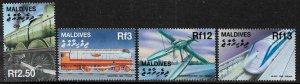 Maldive Is #2494-7 MNH Set - Transportation