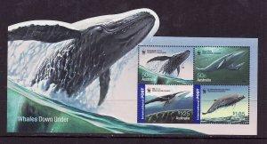 Australia-Sc#2537a-unused NH sheet-Marine Life-Whales-WWF-2006-