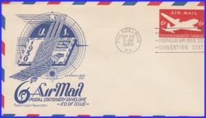 US FDC #UC18 6c Skymaster ~ Cachet Craft - Staehle Cachet (6665)