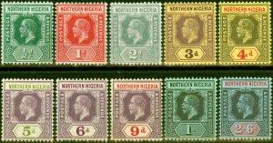 Northern Nigeria 1912  Set of 10 to 2s6d SG40-49 Fine Lightly Mtd Mint