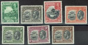 GRENADA 1934 KGV PICTORIAL RANGE TO 1/- PERF 12.5