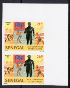 Senegal 1996 Sc#1213  Cent.Olympic Committee Pair Imperforated MNH