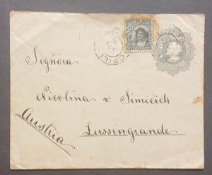 O) 1909 CHILE, COLUMBUS 10c, CHRISTOPHER COLUMBUS, 5c POSTAL STATIONERY, CIRCU
