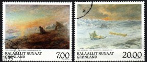 Greenland #349-50 F-VF Used CV $9.00 (X5256)