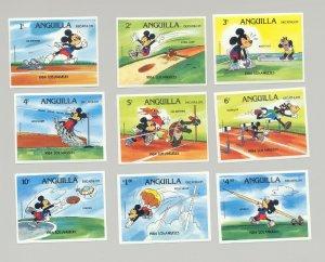 Anguilla #559-568 Olympics, Disney 9v & 1v S/S Imperf Proofs