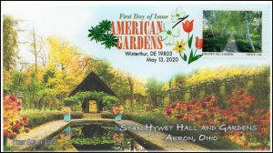 20-123, 2020, American Gardens, Digital Color Postmark, First Day Cover, Stan Hy