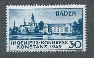 Germany Baden 5N41 Constance Cathedral single MH