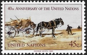 United Nations UN New York 1985 Scott # 448 Mint NH Ships Free With Another Item