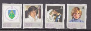 Pitcairn Islands, 213-216 Royal Wedding, Princess Diana, MNH