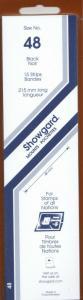 SHOWGARD BLACK MOUNTS 215/48 (15) RETAIL PRICE $9.75