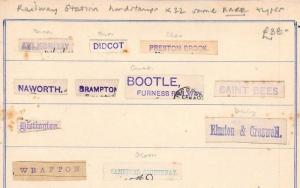 BA173 1880s GB RAILWAY STATION Cut Postmark Pieces(22) Some RARE Unusual Lot