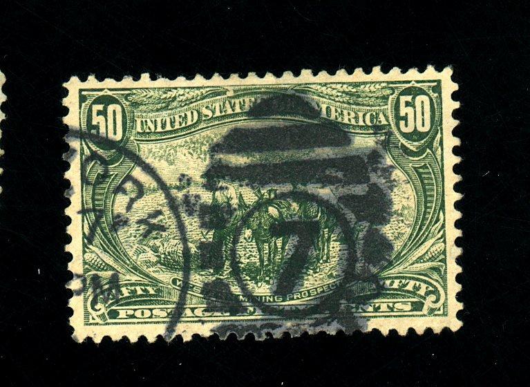 U.S. #291 Used F-VF Sm thin Cat $175