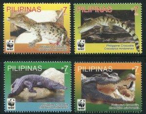 Philippines 2011 SC 3369-3372 WWF Crocodiles