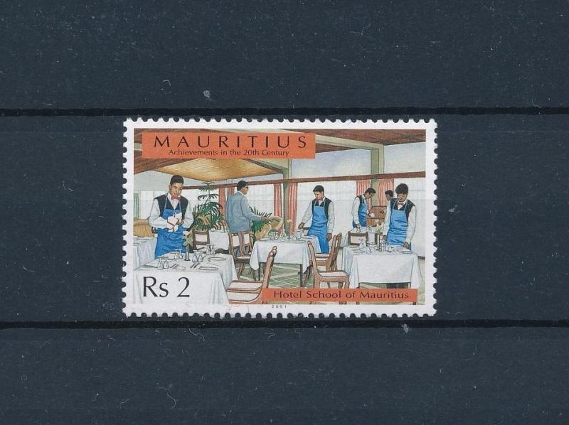 [58381] Mauritius 2001 Hotel School Wine glasses from set Vin  MNH