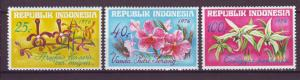 J21077 Jlstamps 1976 indonesia set mh #978-80 orchids flowers