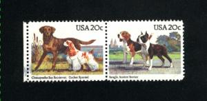 USA #2098-99  2 used pair 1984 PD