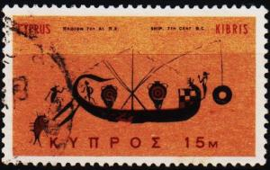 Cyprus. 1966 15m S.G.286 Fine Used
