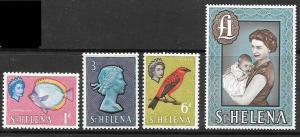 ST.HELENA SG176a/89a 1965 DEFINITIVES CHALK-SURFACED PAPER MTD MINT