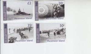 2019 Ascension Island D-Day Remembered (4) (Scott NA) MNH