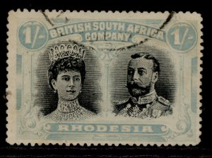 RHODESIA SG177, 1s black and blue-green, USED. Cat £60.