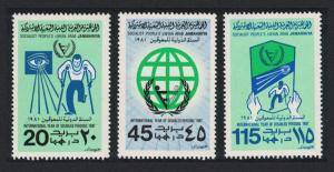 Libya International Year of Disabled People 3v SG#1068-1070