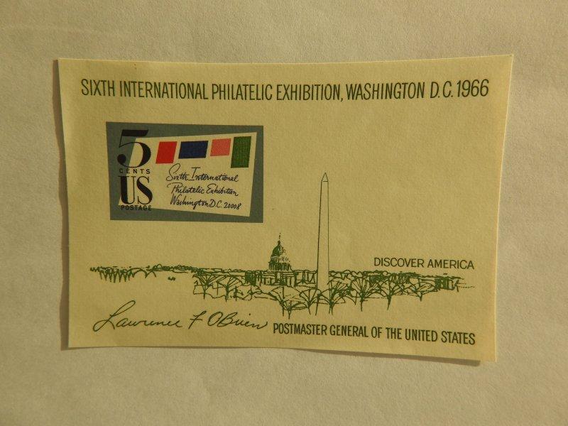 U. S. #1311  MINT Souvenir Sheet  OG  NH