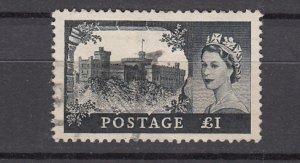 J26574  jlstamps 1955 great britain used #312 queen wmk 308