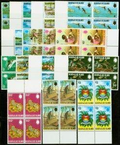 Gilbert & Ellice Is 1971 set of 15 SG173-187 Superb MNH Blocks of 4