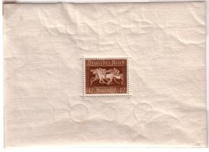 Germany #B90  1936 Souvenir Sheet  Horse race(MNH) CV $21.00