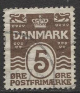 Denmark - Scott 89 - Definitive Issue -1921 - Used - Single 5o Stamp