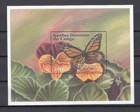 Congo, Dem. issue. Butterfly s/sheet.