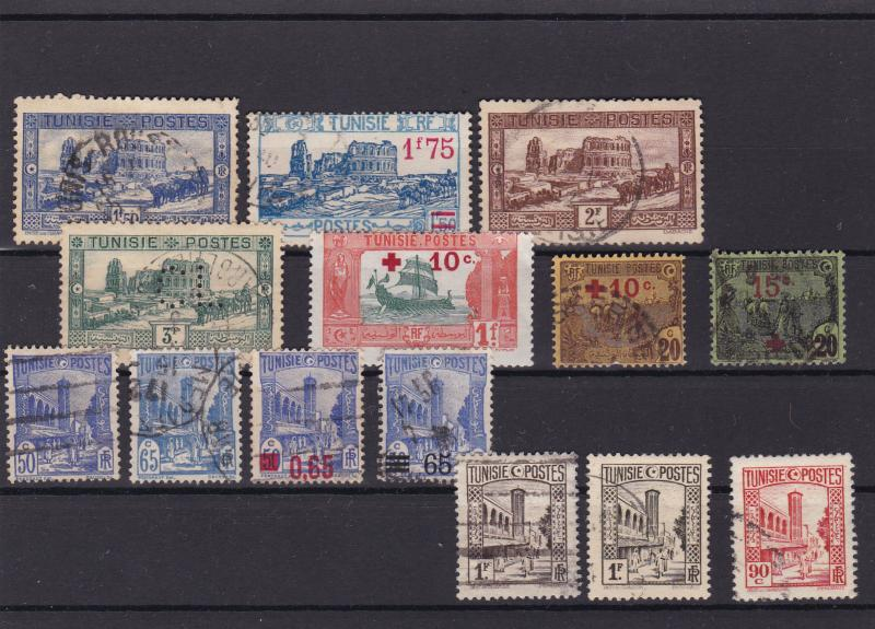 tunisia overprints and red cross  stamps ref r15143