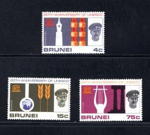 Brunei, Scott 128-130   VF,  MNH,  CV $4.65  ....0980071