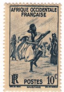 French Wesr Africa, Scott # 36 (1), MH