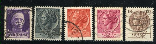 Italy   5 different used  PD