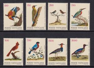 Vatican City   #830-837    MNH  1989  birds from engravings by Albin