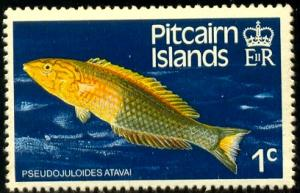 Fish, Pseudojuloides Atavai, Pitcairn Islands SC#231 MNH