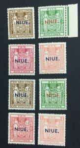 MOMEN: NIUE SG #79-86 1941-54 MINT OG H/2NH(80-81) £870 LOT #61097