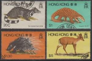 Hong Kong 1982 Fauna Stamps Set of 4 Fine Used