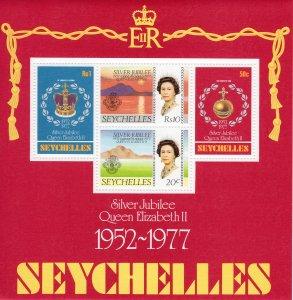 Seychelles 1977 Sc#87a SILVER JUBILEE QUEEN ELIZABETH Souvenir Sheet (1) MNH