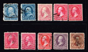 USA STAMP 19th OLD USED STAMP SMALL BANK NOTE STAMPS LOT
