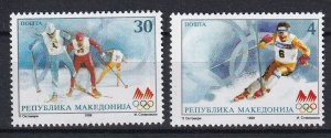 Macedonia 1998 Winter Olympic Games - Nagano 2 MNH Stamps